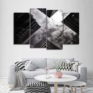 Gloomy Architecture Multi Panel Canvas Wall Art - Architecture