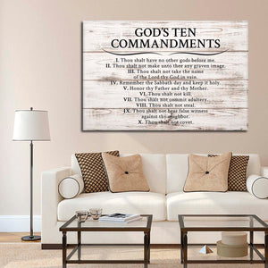 Gods Ten Commandments Canvas Wall Art - Religion