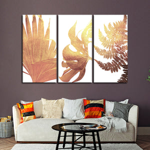 Gold Botanical Canvas Set Wall Art - Botanical
