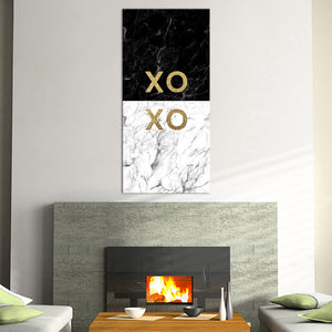 Gold XOXO Multi Panel Canvas Wall Art - Relationship