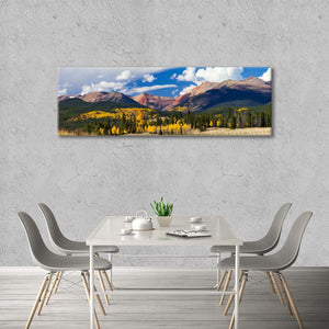 Golden Aspen Trees Multi Panel Canvas Wall Art - Nature