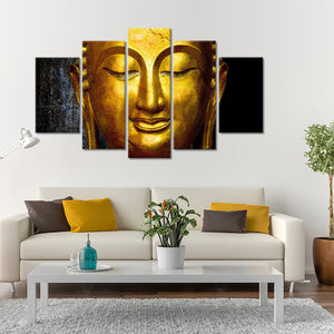 Golden Buddha Multi Panel Canvas Wall Art - Buddhism