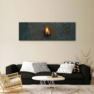 Golden Egg Multi Panel Canvas Wall Art - Gold