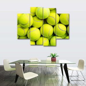 Golden Set Multi Panel Canvas Wall Art - Tennis