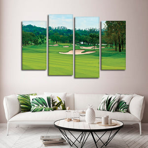 Golf Course Multi Panel Canvas Wall Art - Golf