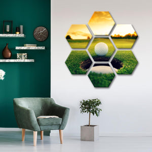Golf Hole Multi Panel Canvas Wall Art - Golf