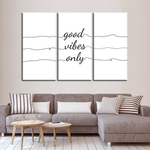 Good Vibes Only Multi Panel Canvas Wall Art - Inspiration