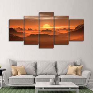Gorgeous Sunset View Multi Panel Canvas Wall Art - Nature