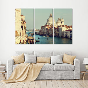 Grand Canal Multi Panel Canvas Wall Art - City
