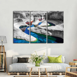 Grand Canyon River Pop Multi Panel Canvas Wall Art - Nature