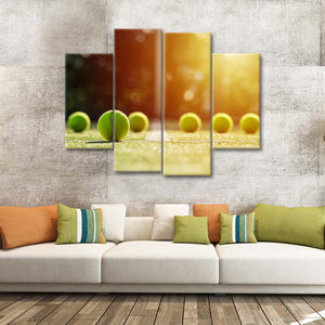 Grand Slam Multi Panel Canvas Wall Art - Tennis