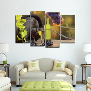 Grape Vines Multi Panel Canvas Wall Art - Winery