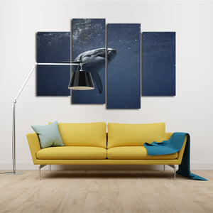 Great White Shark Multi Panel Canvas Wall Art - Shark