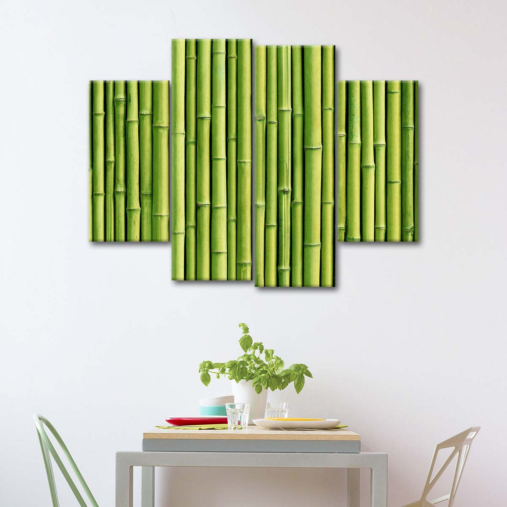 Green Bamboo Wall