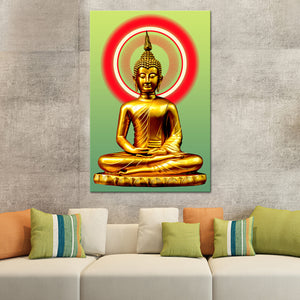 Illuminated Buddha Canvas Wall Art - Buddhism