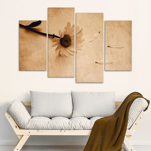 Grunge Bloom Multi Panel Canvas Wall Art - Flower