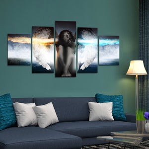 Guardian Angel Multi Panel Canvas Wall Art - Religion
