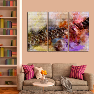 Guitar Solo Multi Panel Canvas Wall Art - Guitar