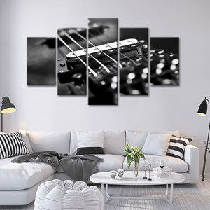 Guitar Strings Multi Panel Canvas Wall Art - Guitar