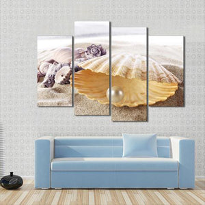 Sea Pearls Multi Panel Canvas Wall Art - Beach