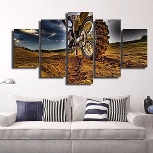 Dirt Bike Multi Panel Canvas Wall Art