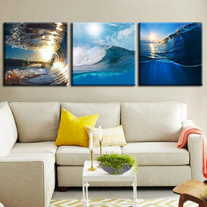 Surf All Day Long Canvas Set Wall Art - Surfing