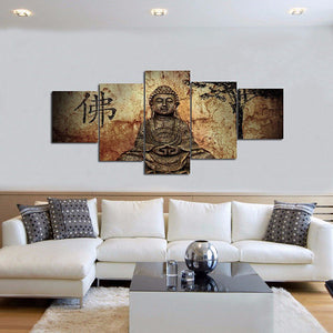 Live Wisely Multi Panel Canvas Wall Art - Buddhism