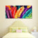 Feathers In Colors Multi Panel Canvas Wall Art