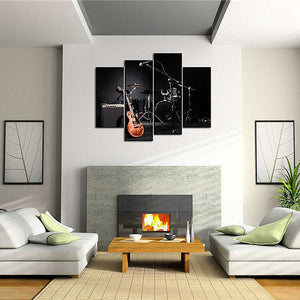 The Band Multi Panel Canvas Wall Art - Music