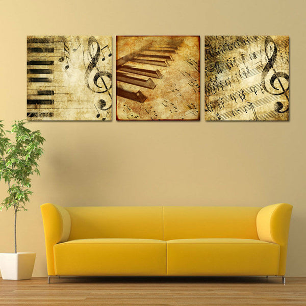Music Note Multi Panel Canvas Wall Art | ElephantStock