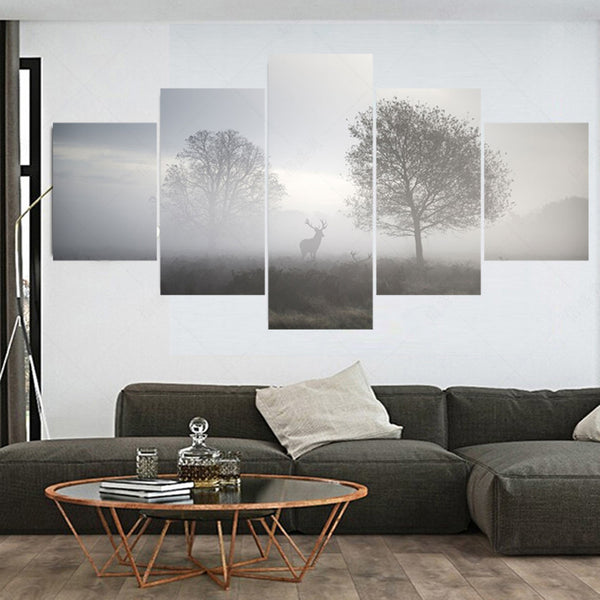 Hunting at Dusk Multi Panel Canvas Wall Art