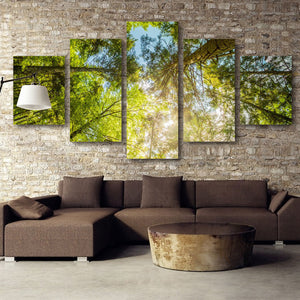 Tree Top Multi Panel Canvas Wall Art - Nature