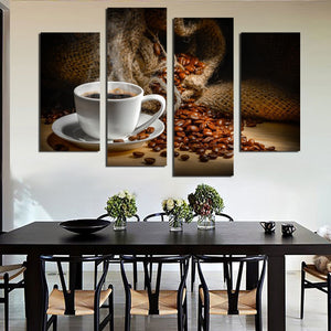 Taste Of Life Multi Panel Canvas Wall Art - Coffee