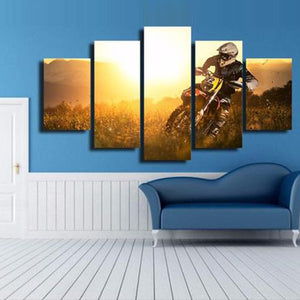 MotoCross Multi Panel Canvas Wall Art - Motocross