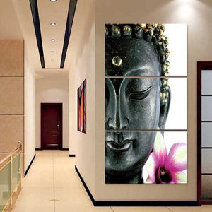 Lotus Buddha Multi Panel Canvas Wall Art - Buddhism