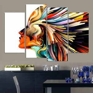 Profile Colors Multi Panel Canvas Wall Art - Color