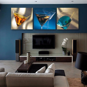 Art Of Martini Canvas Set Wall Art - Winery