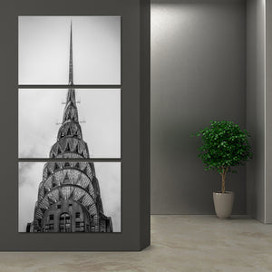 Chrysler Building Multi Panel Canvas Wall Art - Landmarks