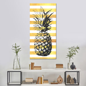 Golden Pineapple Multi Panel Canvas Wall Art - Pineapple