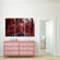 Red Walkway Multi Panel Canvas Wall Art