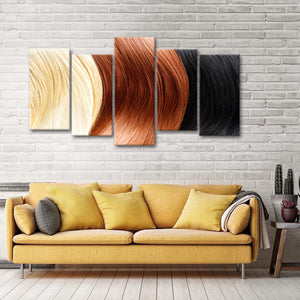 Hair Shades Multi Panel Canvas Wall Art - Hair