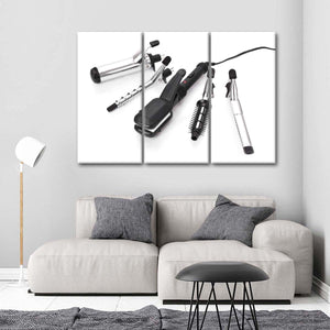 Hairstyling Curlers Multi Panel Canvas Wall Art - Hair