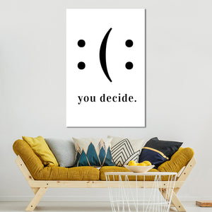 Happiness Is A Choice Canvas Wall Art - Inspiration
