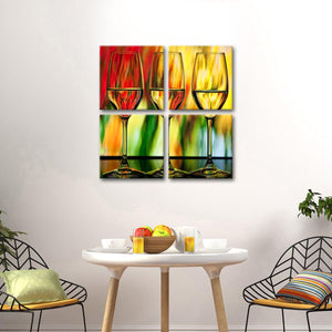 Happy Hour Multi Panel Canvas Wall Art - Winery