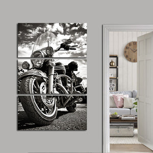 Biker Multi Panel Canvas Wall Art - Bike