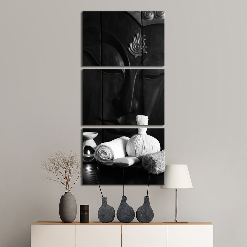 Harmonious buddha bw multi panel canvas wall art elephantstock