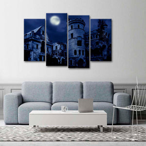 Haunted Manor Multi Panel Canvas Wall Art - Castle