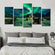 Haunting Aurora Multi Panel Canvas Wall Art