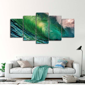Hawaiian Wave Multi Panel Canvas Wall Art - Surfing