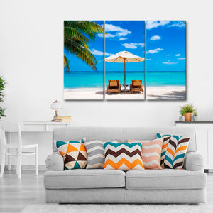 Heavenly Vacation Multi Panel Canvas Wall Art - Beach